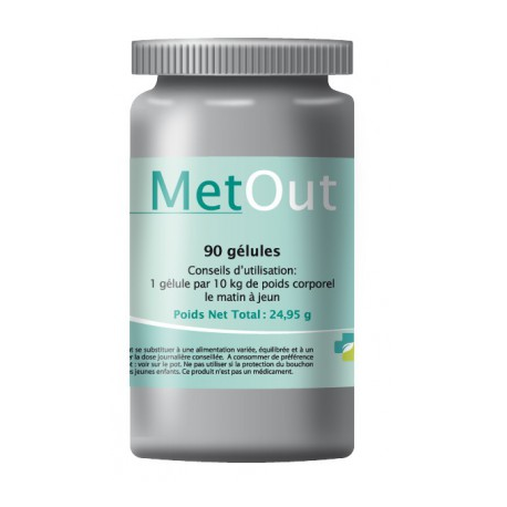 Metout est un complément alimentaire il est indiqué pour la désintoxication des métaux lourds comme le mercure et l aluminium...