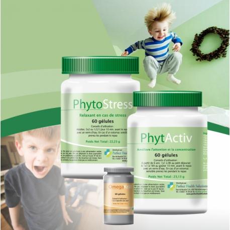 Pack ADHD / Hyperactivité Favorise la faculté de concentration pour de performance d'apprentissage Favorable à un bon équilibre